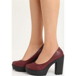 Bordowe Czółenka Airiness. Czerwone buty ślubne damskie Born2be, ze skóry, na wysokim obcasie, na platformie. Za 59,99 zł.