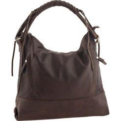 Torebki klasyczne damskie: Skórzana torebka w kolorze ciemnobrązowym – 35 x 32 x 10 cm