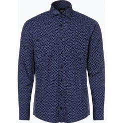 Joop - Koszula męska – Hanjo, niebieski. Szare koszule męskie marki JOOP!, z bawełny, z klasycznym kołnierzykiem, z długim rękawem. Za 399,95 zł.