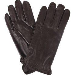 Rękawiczki Brązowe. Brązowe rękawiczki męskie LANCERTO, w paski, ze skóry. Za 129,90 zł.