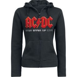 AC/DC Stiff upper lip live Bluza z kapturem rozpinana damska czarny. Czarne bluzy rozpinane damskie AC/DC, xxl, z nadrukiem, z kapturem. Za 184,90 zł.