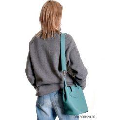 Torba Fio Mini-Turkus. Niebieskie torebki klasyczne damskie marki Pakamera, w kolorowe wzory, ze skóry, małe. Za 310,00 zł.
