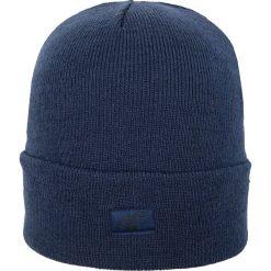 Czapka damska CAD200Z - ciemny granatowy - 4F. Niebieskie czapki damskie 4f, na jesień, z materiału. Za 14,99 zł.