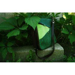 MARYJANNA skórzana torba ODCIENIE ZIELENI. Zielone torebki klasyczne damskie Pakamera, ze skóry. Za 425,00 zł.