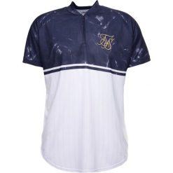 T-shirty męskie z nadrukiem: SIKSILK MARBLE BASEBALL TEE Tshirt z nadrukiem dark navy/white