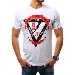 T-shirty męskie z nadrukiem: T-shirt męski z nadrukiem biały (rx2305)