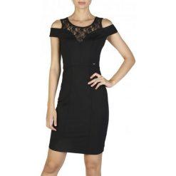 Guess Sukienka Damska S Czarny. Czarne sukienki hiszpanki Guess, s, z aplikacjami. W wyprzedaży za 309,00 zł.