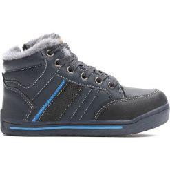 Granatowe Buty Sportowe Bowing. Niebieskie buty sportowe chłopięce Born2be, z materiału, z okrągłym noskiem, na zamek. Za 69,99 zł.