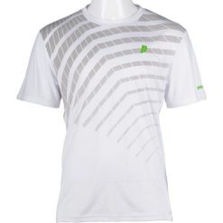 PRINCE Koszulka Męska Graphic Crew Wh/Gy r. XL (3M099168). Białe koszulki sportowe męskie marki Adidas, l, z jersey, do piłki nożnej. Za 100,97 zł.