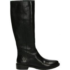 Kozaki - 8N473 COW BLA. Czarne buty zimowe damskie Venezia, ze skóry. Za 279,00 zł.