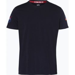 Alpha Industries - T-shirt męski, niebieski. Czarne t-shirty męskie marki Alpha Industries, m, z aplikacjami. Za 129,95 zł.
