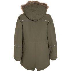 Mikkline GIRLS Płaszcz zimowy dusty olive. Niebieskie kurtki chłopięce marki mikk-line, z jeansu. W wyprzedaży za 407,20 zł.