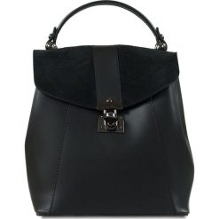 """Plecaki damskie: Skórzany plecak """"Naima"""" w kolorze czarnym – 21 x 22 x 12 cm"""
