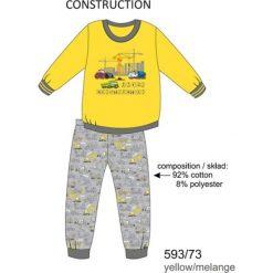 Bielizna chłopięca: Piżama chłopięca DR 593/73 Construction Żółta r. 116