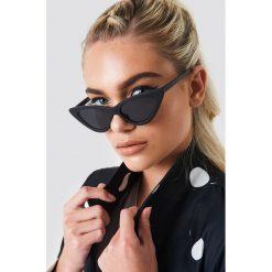 Okulary przeciwsłoneczne damskie aviatory: NA-KD Accessories Okulary przeciwsłoneczne Pointy Cat Eye – Black