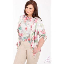 Bluzy rozpinane damskie: Letnia bluza w kwiaty Plus