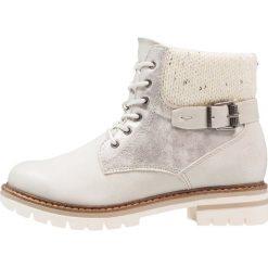 Marco Tozzi Botki sznurowane ice. Szare buty zimowe damskie marki Marco Tozzi, z materiału, na sznurówki. W wyprzedaży za 125,95 zł.