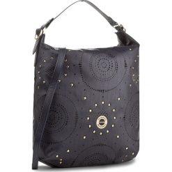 Torebka MONNARI - BAG1380-013 Navy. Brązowe torebki klasyczne damskie marki Monnari, w paski, z materiału, średnie. W wyprzedaży za 139,00 zł.