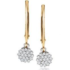 Kolczyki damskie: RABAT Kolczyki – , Diament 0,14ct