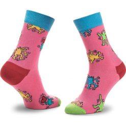 Skarpety Wysokie Unisex HAPPY SOCKS - KEH01-3000 Kolorowy Różowy. Czerwone skarpetki męskie Happy Socks, w kolorowe wzory, z bawełny. Za 39,90 zł.