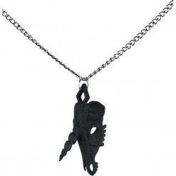 The Rogue + The Wolf Unicorn Skull Necklace Naszyjnik czarny. Czarne naszyjniki damskie The Rogue + The Wolf. Za 99,90 zł.