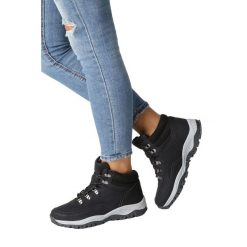 Czarne buty trekkingowe sznurowane Casu 613-1. Czarne buty trekkingowe damskie marki Casu. Za 89,99 zł.