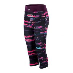 Bryczesy damskie: Elbrus Spodnie Ahore Wo's Brush Print/Potent Purple S