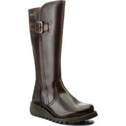 Kozaki FLY LONDON - Shapfly GORE-TEX P144059001 Dk.Brown. Brązowe buty zimowe damskie Fly London, z gore-texu, przed kolano, na wysokim obcasie. W wyprzedaży za 459,00 zł.