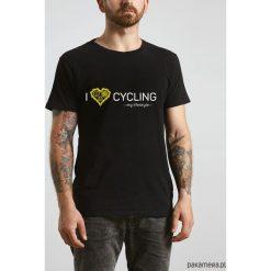 Koszulka T-SHIRT. I love cycling - my lifestyle. Czarne t-shirty męskie z nadrukiem marki Pakamera, m, z kapturem. Za 85,00 zł.