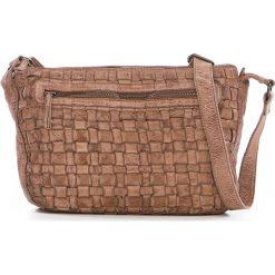 Torebki klasyczne damskie: Skórzana torebka w kolorze beżowym – 27 x 21 x 8 cm