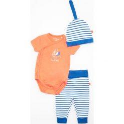 Odzież dziecięca: Zestaw: spodenki, body i czapka - Granatowy