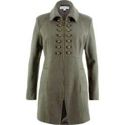 Płaszcz w militarnym stylu z kolekcji Maite Kelly bonprix oliwkowy. Zielone płaszcze damskie bonprix, moro, militarne. Za 239,99 zł.