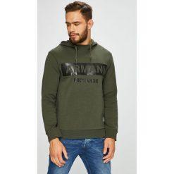 Armani Exchange - Bluza. Czarne bluzy męskie rozpinane marki Armani Exchange, l, z materiału, z kapturem. Za 569,90 zł.
