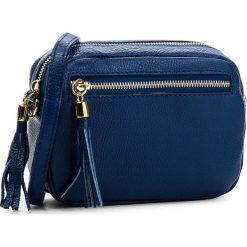 Torebka CREOLE - K10541  Granat. Niebieskie listonoszki damskie Creole, ze skóry, na ramię. Za 129,00 zł.