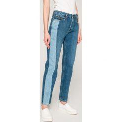 Calvin Klein Jeans - Jeansy Dark Vertical. Niebieskie boyfriendy damskie Calvin Klein Jeans, z podwyższonym stanem. W wyprzedaży za 329,90 zł.