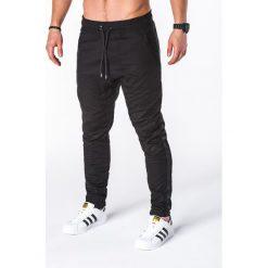 SPODNIE MĘSKIE JOGGERY P670 - CZARNE. Czarne joggery męskie marki Ombre Clothing. Za 75,00 zł.