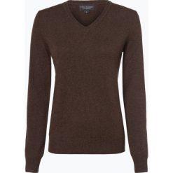 Franco Callegari - Sweter damski z czystego kaszmiru, brązowy. Zielone swetry klasyczne damskie marki Franco Callegari, z napisami. Za 499,95 zł.