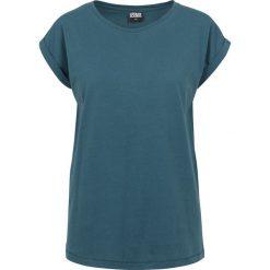 Bluzki asymetryczne: Urban Classics Ladies Extended Shoulder Tee Koszulka damska niebieski (Petrol)