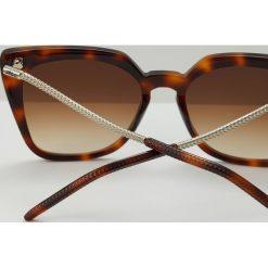KARL LAGERFELD Okulary przeciwsłoneczne havana. Brązowe okulary przeciwsłoneczne damskie aviatory KARL LAGERFELD. W wyprzedaży za 531,75 zł.