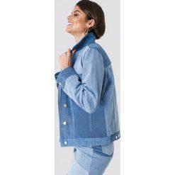 Bomberki damskie: Andrea Hedenstedt x NA-KD Kurtka jeansowa Re Done - Blue