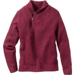 Swetry męskie: Sweter z szalowym kołnierzem, Regular Fit bonprix jeżynowy