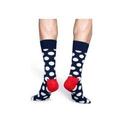 Skarpetki Happy Socks - Big Dot Sock (BD01-608). Szare skarpetki męskie Happy Socks, z bawełny. Za 34,90 zł.
