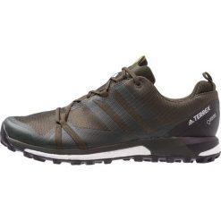 Adidas Performance TERREX AGRAVIC GTX Obuwie hikingowe basic green/shock yellow. Zielone buty sportowe męskie adidas Performance, z materiału, outdoorowe. Za 649,00 zł.