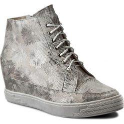 Sneakersy OLEKSY - 449/818 Srebrny Szary. Szare sneakersy damskie marki Oleksy, ze skóry. W wyprzedaży za 239,00 zł.