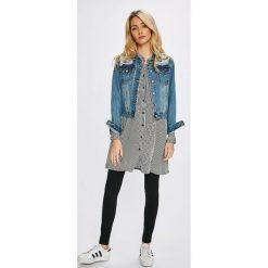 Answear - Koszula Stripes Vibes. Szare koszule damskie marki ANSWEAR, m, w paski, z tkaniny, casualowe, ze stójką, z długim rękawem. W wyprzedaży za 59,90 zł.