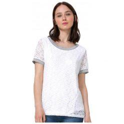 Desigual T-Shirt Damski Escote Barco L Biały. Szare t-shirty damskie marki Desigual, l, z tkaniny, casualowe, z długim rękawem. W wyprzedaży za 159,00 zł.