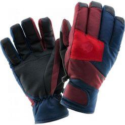 Rękawiczki męskie: IGUANA Rękawiczki męska ELMA Zinfandel/ Dress Blue/ Scarlet Sage r. S/M