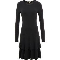 MICHAEL Michael Kors SOLID  Sukienka z dżerseju black. Czarne sukienki z falbanami marki MICHAEL Michael Kors, s, z dżerseju. Za 1049,00 zł.