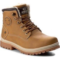 Buty zimowe chłopięce: Trapery ACTION BOY – CP40-6950J Miodowy