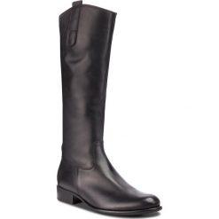 Oficerki GABOR - 91.648.27 Schwarz. Czarne buty zimowe damskie Gabor, z materiału, na obcasie. Za 809,00 zł.